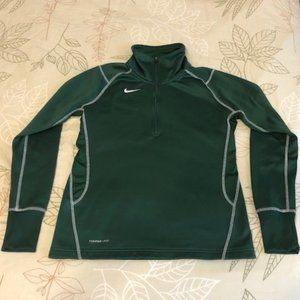 Nike fleece lined pullover ladies small green